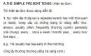 Hiện tại đơn - The simple present tense