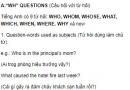 """Câu hỏi với từ hỏi - """"Wh"""" Questions - Unit 2 Tiếng Anh 10"""