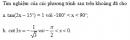 Câu 20 trang 29 SGK Đại số và Giải tích 11 Nâng cao