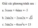 Câu 30 trang 41 SGK Đại số và Giải tích 11 Nâng cao