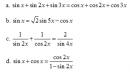 Câu 42 trang 47 SGK Đại số và Giải tích 11 Nâng cao