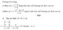 Bài 2 trang 7 SGK Đại số và Giải tích 12 Nâng cao