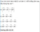 Bài 11 trang 14 sách giáo khoa (SGK) Hình học 10 Nâng cao