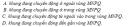 Bài 1 trang 188 SGK Vật Lí 11 Nâng cao