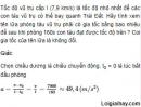Bài 3 trang 24 SGK Vật Lý 10 Nâng Cao