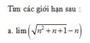 Câu 18 trang 143 SGK Đại số và Giải tích 11 Nâng cao