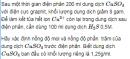 Bài 6 SGK trang 131 hoá học 12  nâng cao