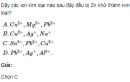 Bài 1 SGK trang 140 hoá học 12  nâng cao