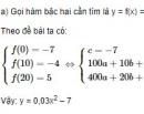 Bài 46 trang 64 SGK Đại số 10 nâng cao