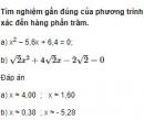 Bài 14 trang 78 SGK Đại số 10 nâng cao