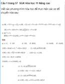 Câu 1 trang 57  SGK Hóa học 11 Nâng cao