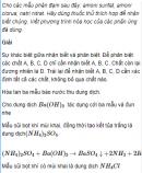 Câu 1 trang 70 SGK Hóa học 11 Nâng cao