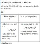 Câu 1 trang 72 SGK Hóa học 11 Nâng cao