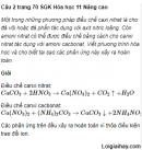 Câu 2 trang 70 SGK Hóa học 11 Nâng cao