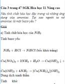 Câu 3 trang 47 SGK Hóa học 11 Nâng cao