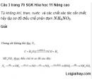 Câu 3 trang 70 SGK Hóa học 11 Nâng cao