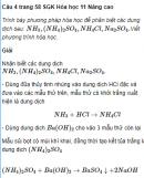 Câu 4 trang 58 SGK Hóa học 11 Nâng cao