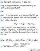 Câu 4 trang 66 SGK Hóa học 11 Nâng cao