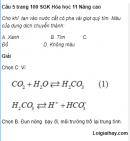 Câu 5 trang 100 SGK Hóa học 11 Nâng cao