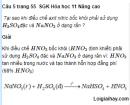 Câu 5 trang 55  SGK Hóa học 11 Nâng cao