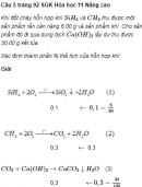 Câu 5 trang 92 SGK Hóa học 11 Nâng cao