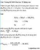 Câu 7 trang 66 SGK Hóa học 11 Nâng cao