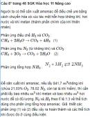Câu 8* trang 48 SGK Hóa học 11 Nâng cao