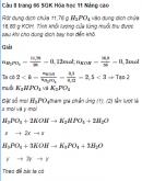 Câu 8 trang 66 SGK Hóa học 11 Nâng cao
