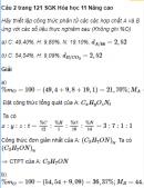 Câu 2 trang 121 SGK Hóa học 11 Nâng cao