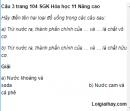 Câu 3 trang 104 SGK Hóa học 11 Nâng cao