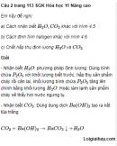Câu 2 trang 113 SGK Hóa học 11 Nâng cao