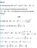 Bài 21 trang 197 SGK Đại số và Giải tích 12 Nâng cao