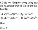Bài 2 trang 219 SGK hóa học 12 nâng cao