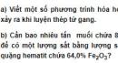Bài 6 trang 208 SGK hóa học 12 nâng cao