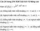 Bài tập trắc nghiệm khách quan trang 214 SGK Giải tích 12 Nâng cao