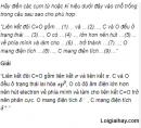 Câu 1 trang 242 SGK Hóa học 11 Nâng cao