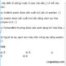 Câu 10 trang 247 SGK Hóa học 11 Nâng cao