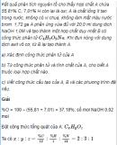 Câu 8* trang 260 SGK Hóa học 11 Nâng cao