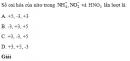 Bài 1 trang 90 SGK Hóa học 10 Nâng cao