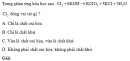 Bài 1 trang 112 SGK Hóa học 10 Nâng cao