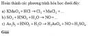 Bài 10 trang 113 SGK Hóa học 10 Nâng cao