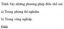 Bài 2 trang 162 SGK Hóa học 10 Nâng cao
