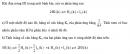 Bài 5 trang 216 SGK Hóa học 10 Nâng cao
