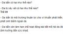 Câu hỏi thảo luận số 1 trang 134 SGK Sinh 8