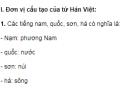 Soạn bài Từ Hán Việt - Ngắn gọn nhất