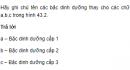 Hãy ghi chú tên các bậc dinh dưỡng thay cho các chữ a, b, c trong hình 43.2 - trang 184