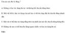 Bài 1 trang 70 SGK Vật Lý 10 Nâng Cao