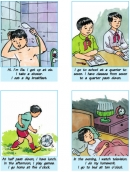B. My routine - Unit 5 trang 56 SGK Tiếng Anh 6