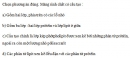 Câu 3 trang 62 SGK Sinh học 10 Nâng cao