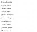 Câu 3 trang 18 SGK Sinh học 10 Nâng cao